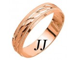 Rose Gold Ellipses Wedding Band 5mm RG-1085