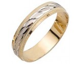 Two Tone Gold Ellipses Wedding Band 5mm TT-1085