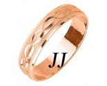 Rose Gold Ellipses Wedding Band 5mm RG-1086