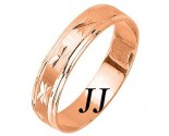 Rose Gold Designer Wedding Band 5mm RG-1087