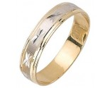 Two Tone Gold Designer Wedding Band 5mm TT-1087