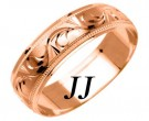 Rose Gold Designer Wedding Band 6mm RG-1088