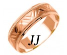Rose Gold Designer Wedding Band 6mm RG-1089