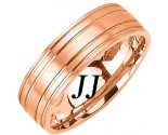 Rose Gold Dual Blade Wedding Band 7mm RG-1151