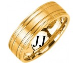 Yellow Gold Dual Blade Wedding Band 7mm YG-1151
