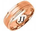 Rose Gold Dual Blade Wedding Band 7mm RG-1152