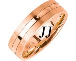 Rose Gold Single Blade Wedding Band 6mm RG-1158
