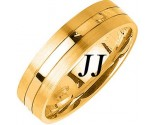 Yellow Gold Single Blade Wedding Band 6mm YG-1158