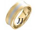 Two Tone Gold Concave Wedding Band 8mm TT-1159B