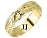 Yellow Gold Fancy Wedding Band 5.5mm YG-1169