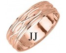 Rose Gold Fancy Wedding Band 6mm RG-1171