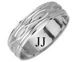 White Gold Fancy Wedding Band 6mm WG-1171