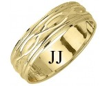 Yellow Gold Fancy Wedding Band 6mm YG-1171