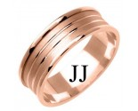 Rose Gold Designer Wedding Band 7mm RG-1172
