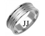 White Gold Designer Wedding Band 7mm WG-1172