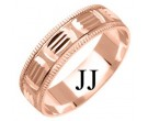 Rose Gold Designer Wedding Band 6mm RG-1173