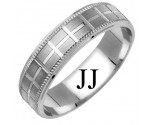 White Gold Designer Wedding Band 6mm WG-1174