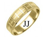 Yellow Gold Designer Wedding Band 6mm YG-1174