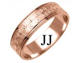 Rose Gold Designer Wedding Band 6mm RG-1175