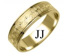 Yellow Gold Designer Wedding Band 6mm YG-1175