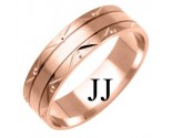 Rose Gold Designer Wedding Band 6mm RG-1177