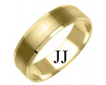Yellow Gold Designer Wedding Band 6mm YG-1178