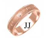 Rose Gold Designer Wedding Band 6mm RG-1179