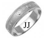 White Gold Designer Wedding Band 6mm WG-1179