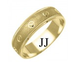 Yellow Gold Designer Wedding Band 6mm YG-1179