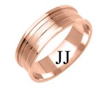 Rose Gold Designer Wedding Band 6mm RG-1181