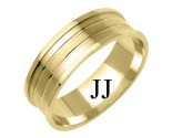 Yellow Gold Designer Wedding Band 7mm YG-1180
