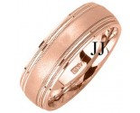 Rose Gold Designer Wedding Band 7mm RG-1183