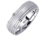 White Gold Designer Wedding Band 7mm WG-1183