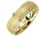 Yellow Gold Designer Wedding Band 7mm YG-1183