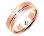 Rose Gold Designer Wedding Band 6.5mm RG-1184