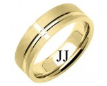 Yellow Gold Designer Wedding Band 6.5mm YG-1184
