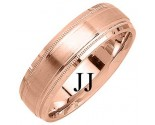 Rose Gold Designer Wedding Band 6.5mm RG-1185