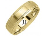Yellow Gold Designer Wedding Band 6.5mm YG-1185
