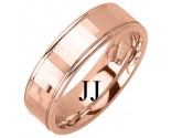 Rose Gold Designer Wedding Band 6.5mm RG-1186