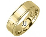 Yellow Gold Designer Wedding Band 6.5mm YG-1186