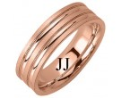 Rose Gold Designer Wedding Band 6.5mm RG-1187