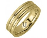 Yellow Gold Designer Wedding Band 6.5mm YG-1187