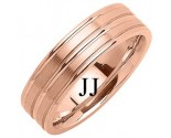 Rose Gold Designer Wedding Band 6.5mm RG-1188
