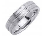 White Gold Designer Wedding Band 6.5mm WG-1188