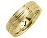 Yellow Gold Designer Wedding Band 6.5mm YG-1188