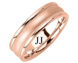 Rose Gold Designer Wedding Band 6.5mm RG-1189
