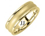 Yellow Gold Designer Wedding Band 6.5mm YG-1189