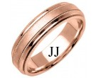 Rose Gold Designer Wedding Band 6.5mm RG-1190