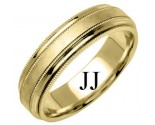 Yellow Gold Designer Wedding Band 6.5mm YG-1190