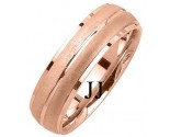 Rose Gold Designer Wedding Band 6mm RG-1191